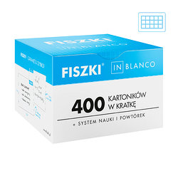 Fiszki in blanco - 400 max