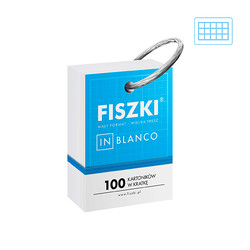 Fiszki in blanco ring - 100