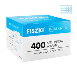 Fiszki in blanco max - 400